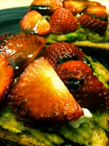 Avocado, Strawberry, and Goat Cheese Toast