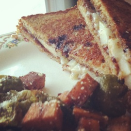 Brie, Fig, Pear Grilled Cheese